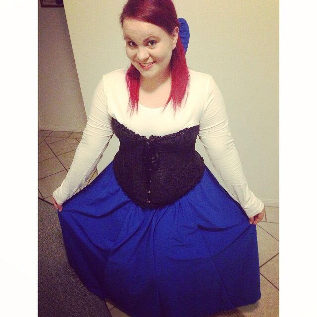 a2bf9fef1f8fa Plus size Ariel costume. Just used a white long sleeved shirt