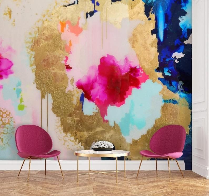Sapphire Removable Wall Mural 9 Tall X 10 Wide Pink Etsy Removable Wall Murals Wall Murals Nursery Wall Decals