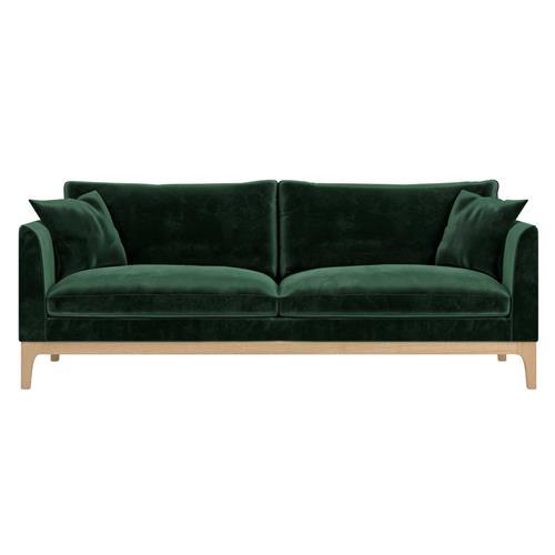 Rove Concepts Loren Modern Classic Moss Green Velvet Sofa In 2021 Green Velvet Sofa Green Sofa Living Room Velvet Living Room