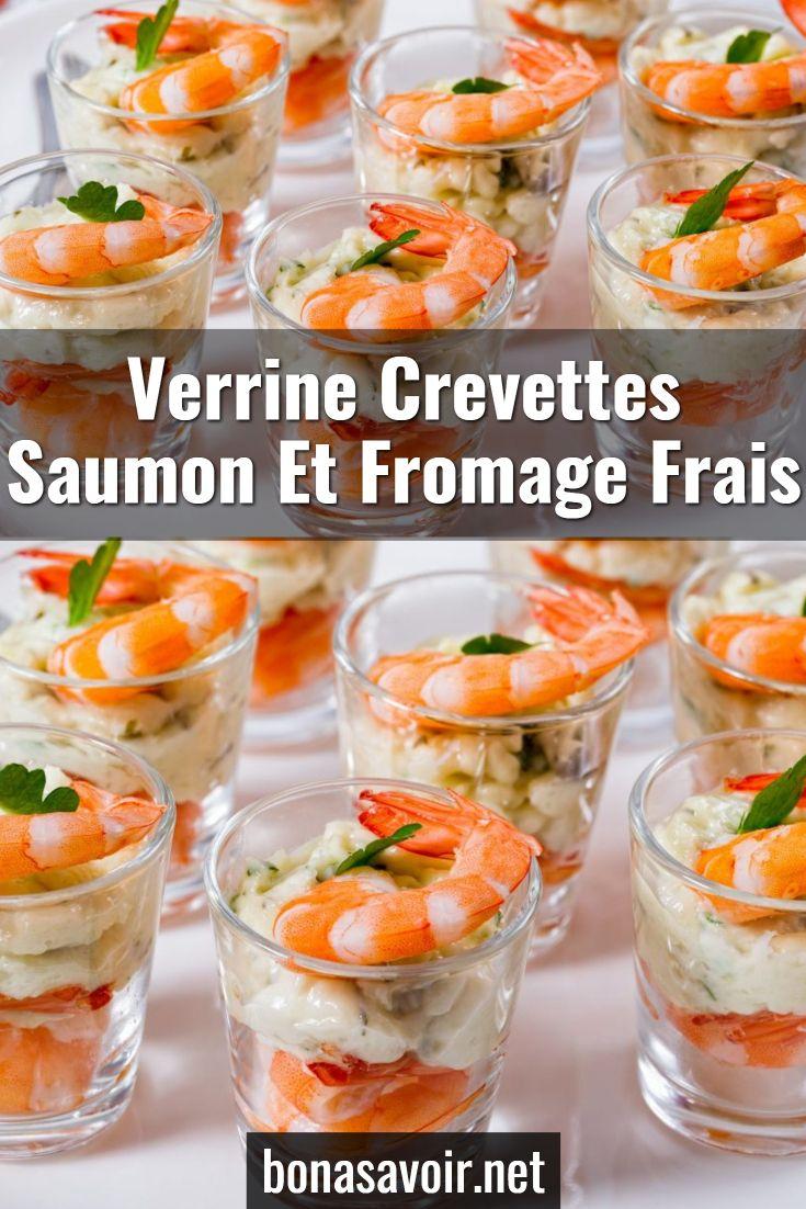 Verrine crevettes saumon et fromage frais #verrinessalees