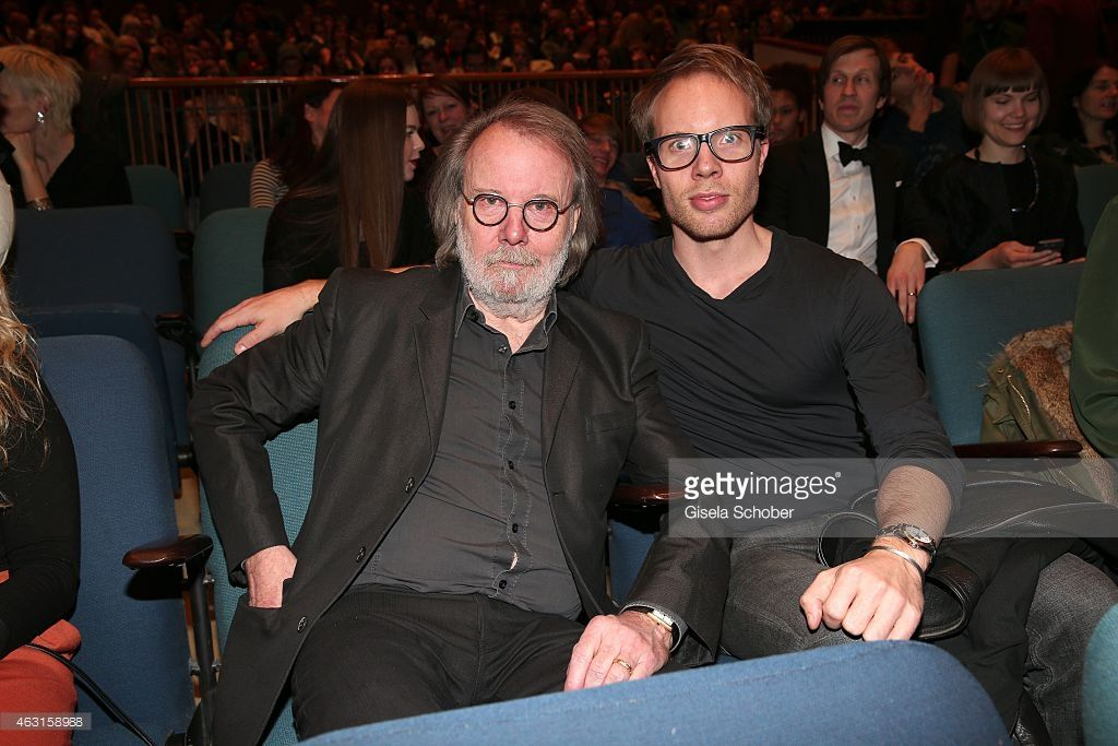Benny Andersson, Founder of ABBA, and his son Ludvig Andersson during 'The Circle' Premiere during the 65th Berlinale International Film Festival at Haus der Kulturen on February 10, 2015 in Berlin, Germany.