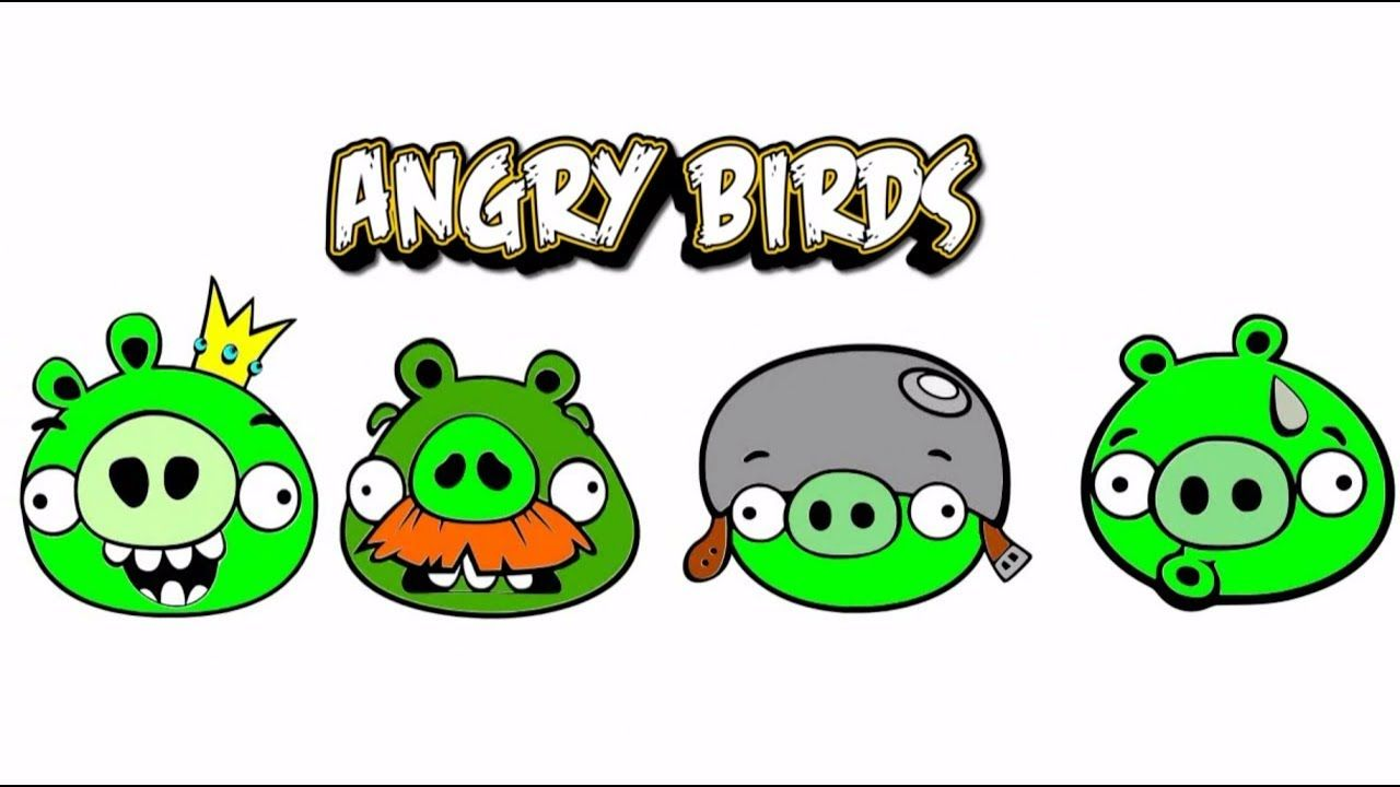 How To Draw Pig From Angry Birds | Playing Angry Birds | Bad Piggies ...