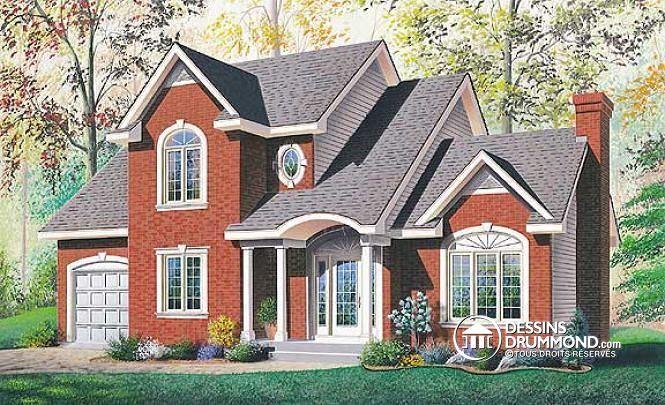 Plan de maison no W2873 de dessinsdrummond modele de maison