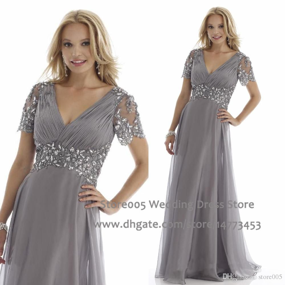 Designer Grey Plus Size Mother of the Bride Dresses A Line ...