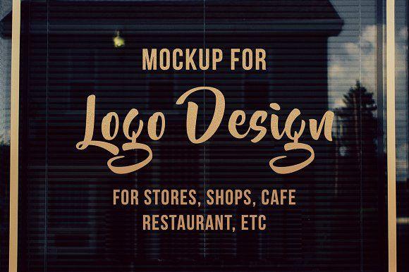 Storefront Window Logo Mockup Logo Mockup Storefront Signs Mockup Design