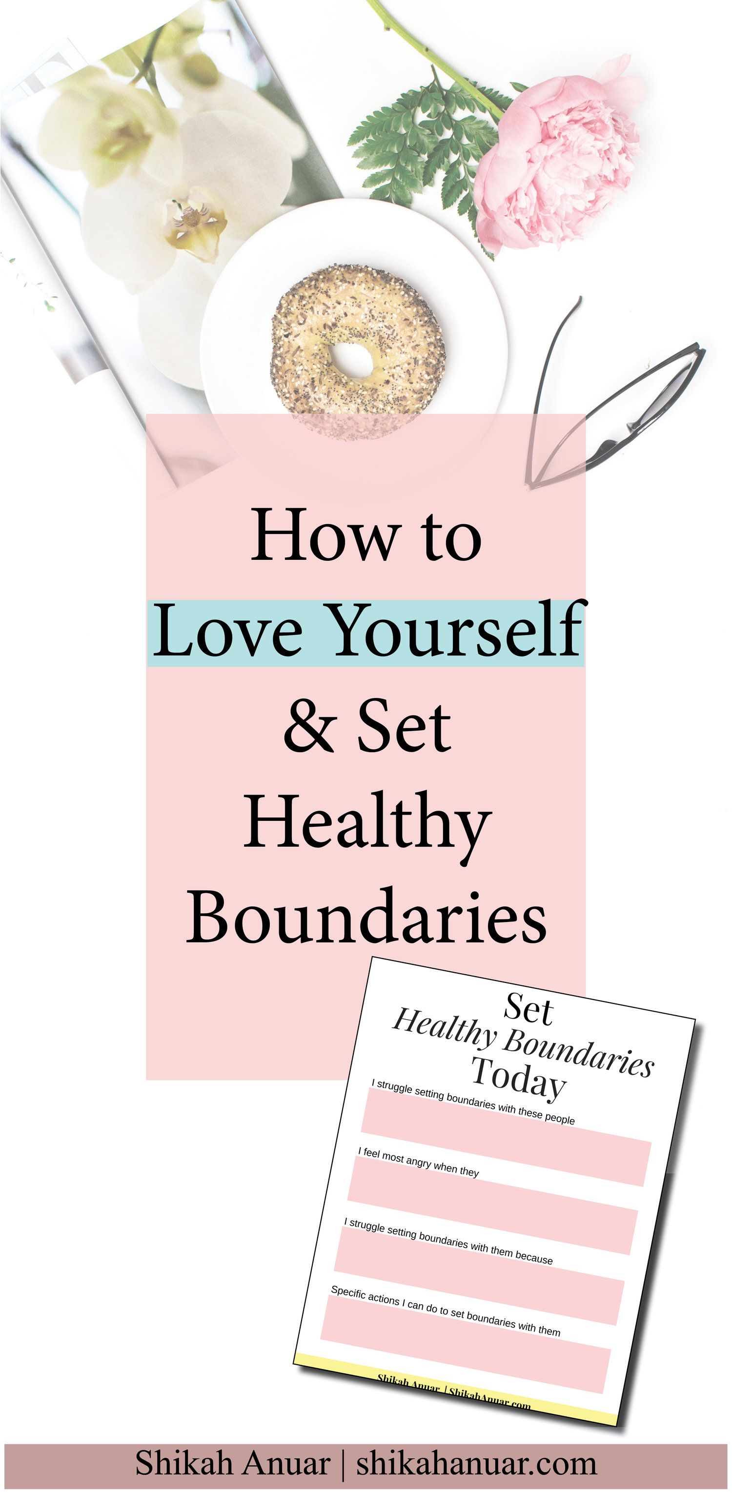Free Printable Set Healthy Boundaries Today