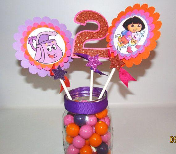 Dora the explorer centerpiece Birthday Party Decoration