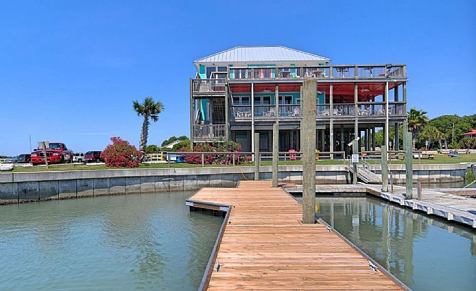 15 Restaurants In North Carolina Have Jaw-Dropping Views ~ #3. Inlet View Bar and Grill,  Shallotte, NC ~ Located right on the water, this beautiful restaurant has delicious seafood as well as some great views. An elevator takes you to the 2nd floor where you can enjoy panoramic views and a nice bar. Go for a casual dinner, or a drink, but time it right to catch the sunset