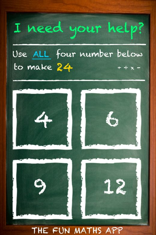 Can you help me solve this fun maths problem created by