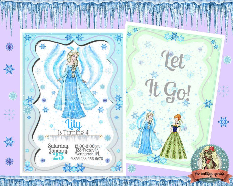 Frozen Birthday Invitation Frozen Invitation Frozen Invite Frozen