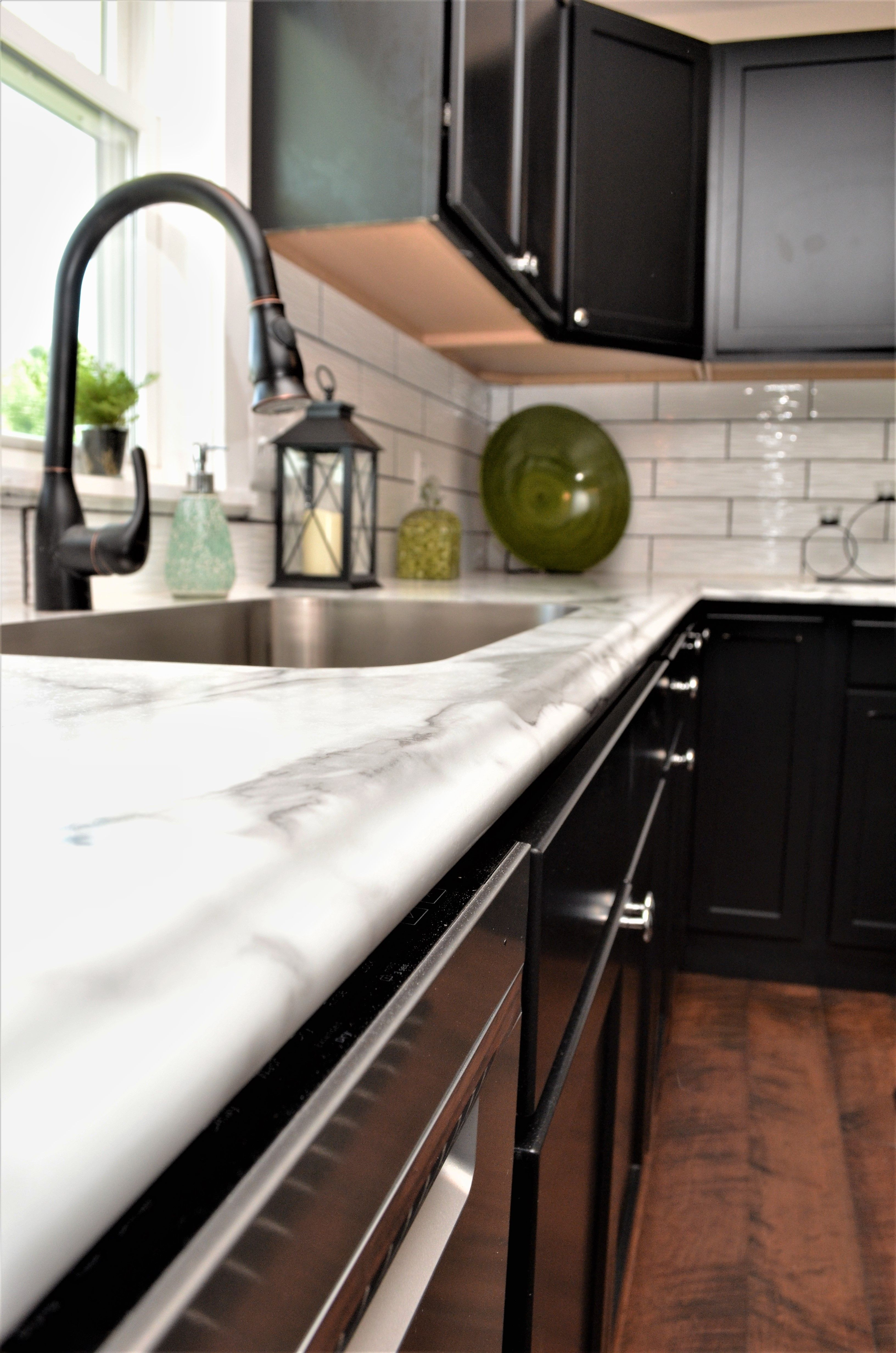 Remarkable Laminate Countertop Amore Edge Style Calacatta Marble Beutiful Home Inspiration Aditmahrainfo