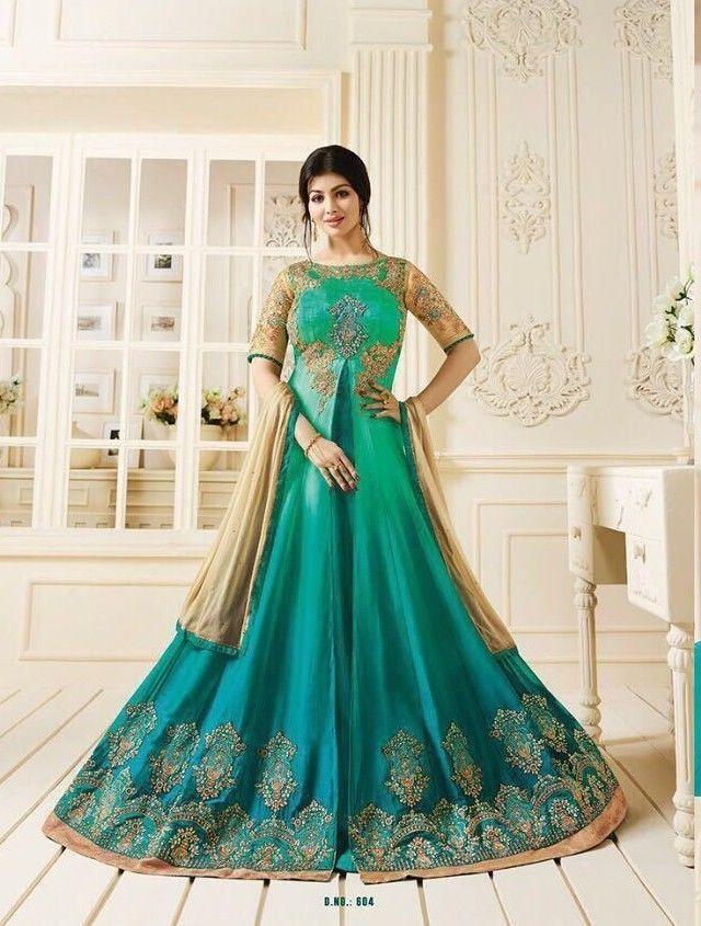 Salwar Kameez Indian Designer long anarkali wedding asian buy latest ...