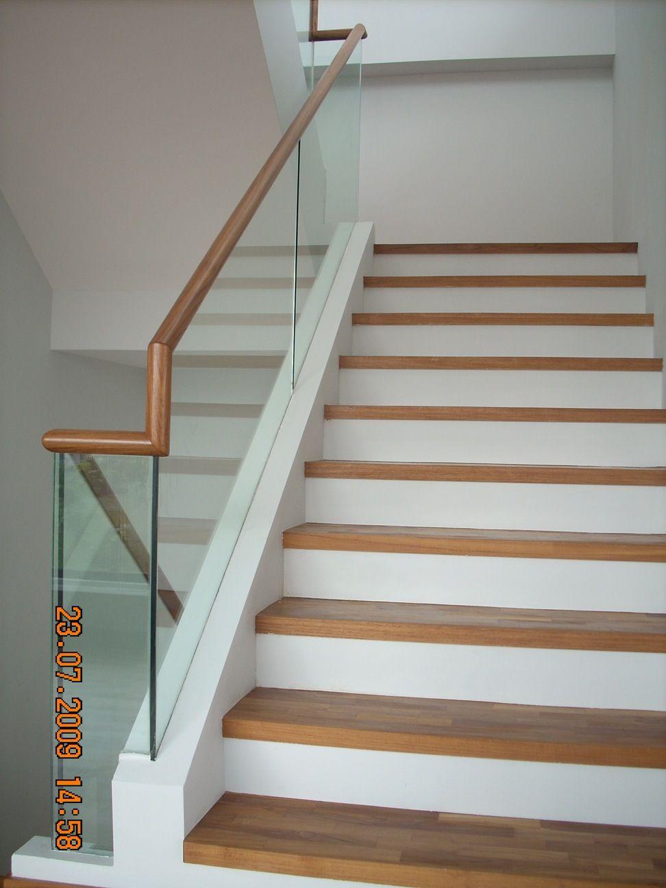 Frameless Staircase Railing Glass Ccn Aluminium Stair Case_glass