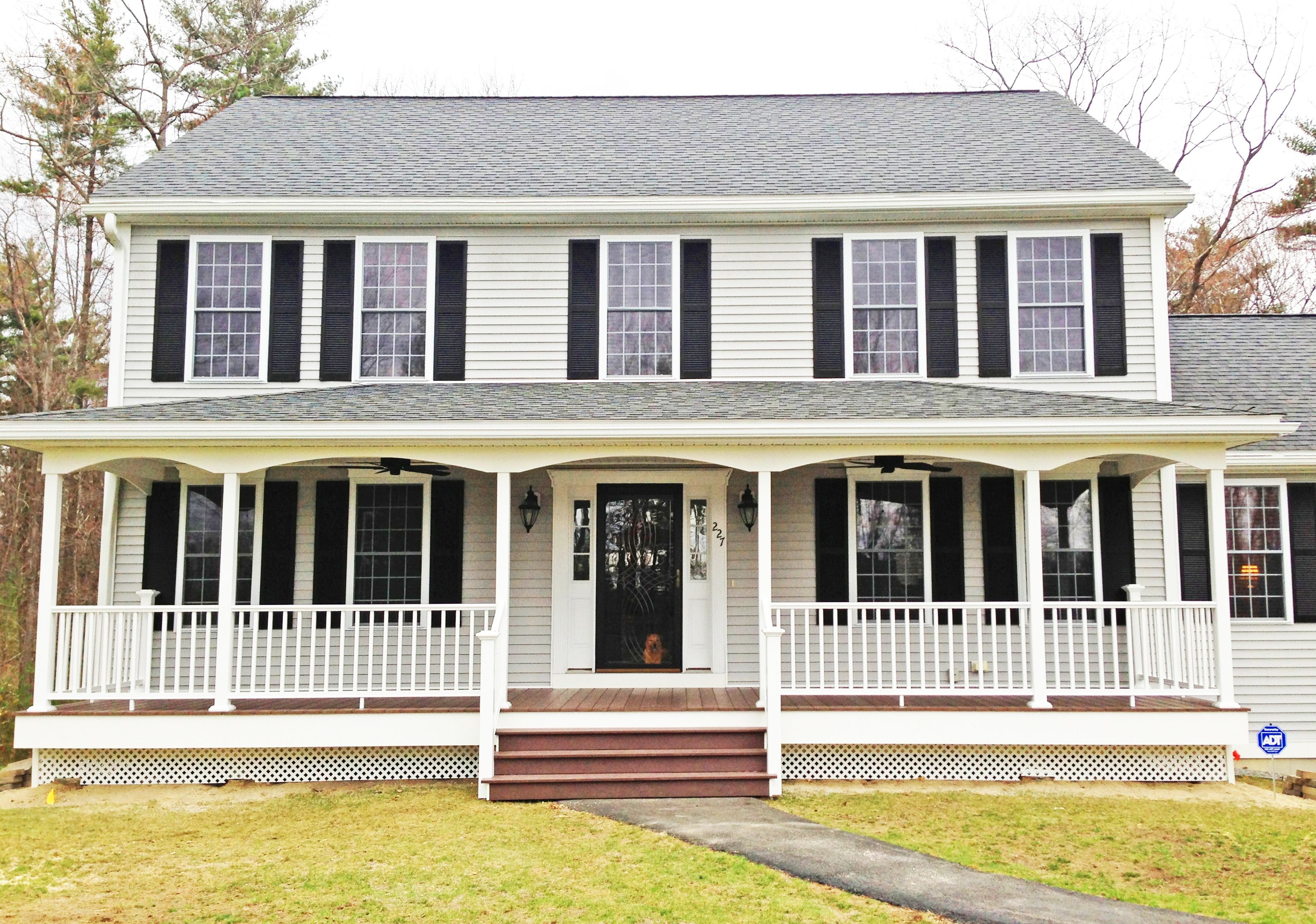 Image result for front porch ideas colonial homes  House with