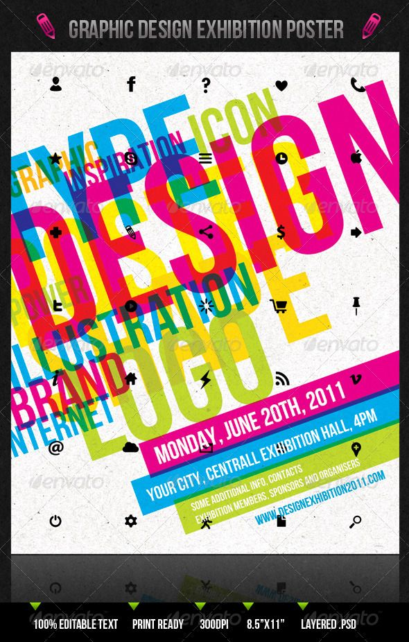 Graphic Design Exhibition PosterFlyer  Exhibition Poster