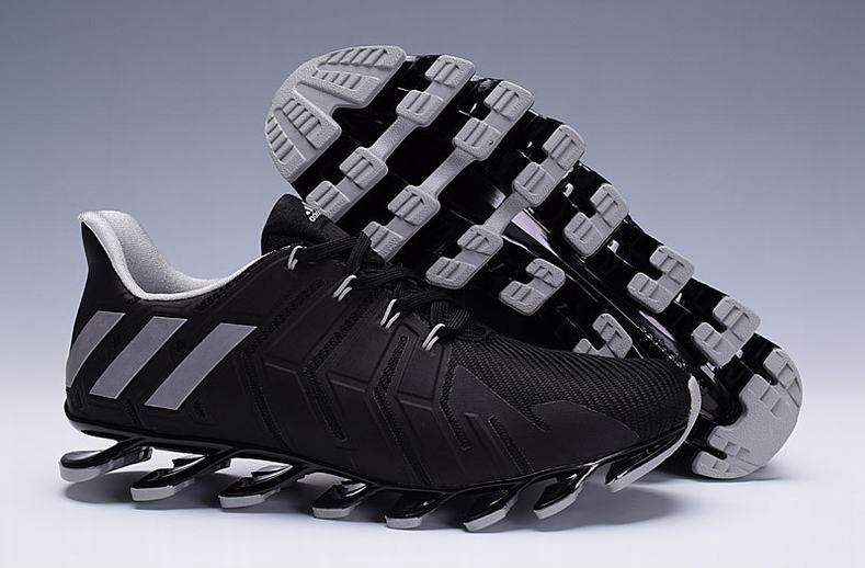 reputable site 9f7c1 e9b0e ... Shoe On Feet Mens Adidas Springblade Pro Black Sliver Trainers ...