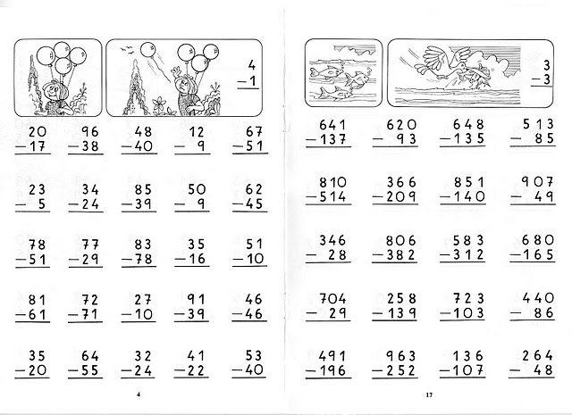 Restas Llevando Para Los Peques De La Casa Abecedario En Cursiva Suma Y Resta Matematicas Tercero De Primaria