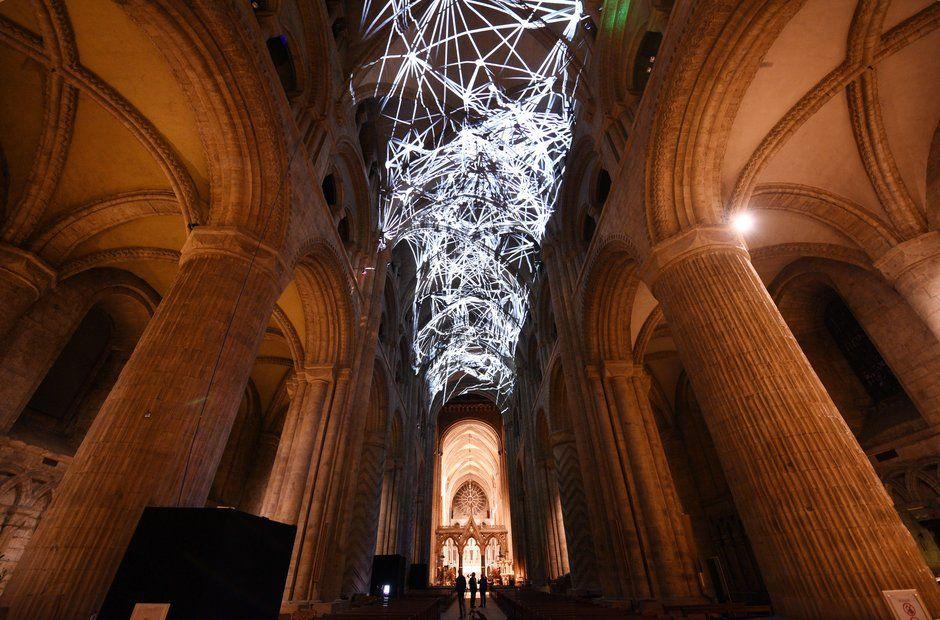 Durham Cathedral #lightartinstallation