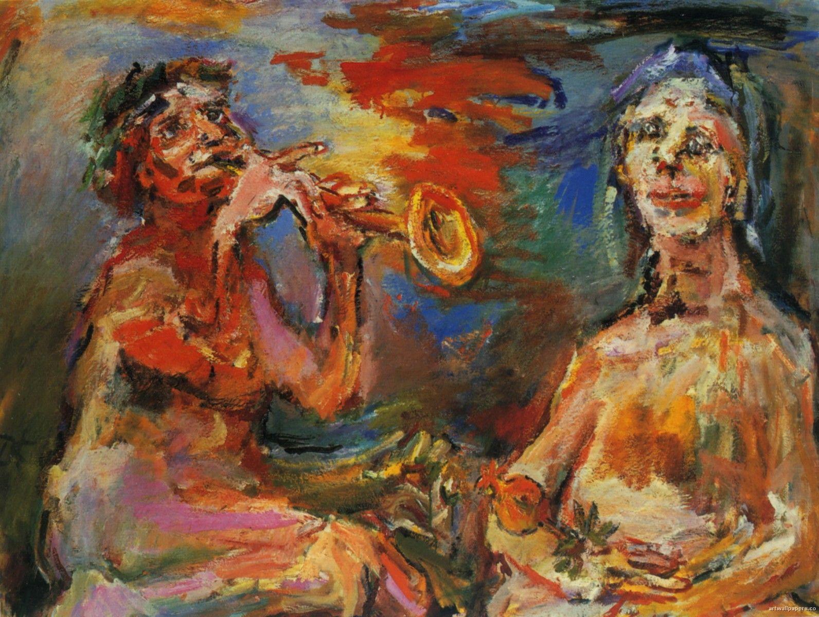 Oskar Kokoschka Jazz Painting Oil Canvas Art