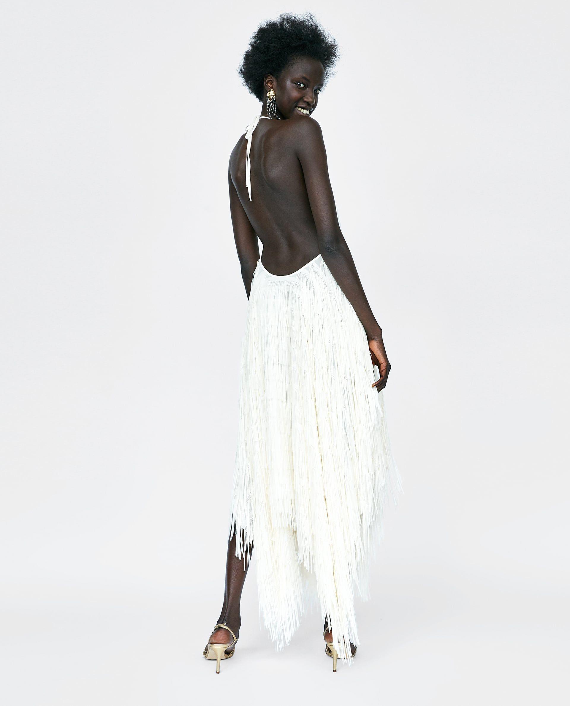 c198ca6d HALTER DRESS WITH FRINGING Fringe Dress, Zara United States, Lace Skirt,  Ootd,