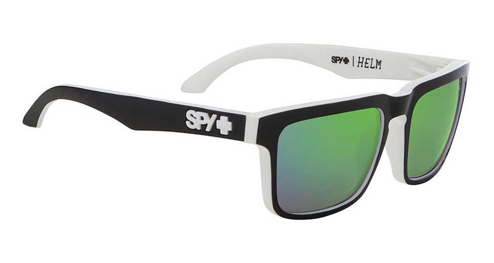 80c514a188 Spy Helm Sunglasses - Whitewall   Happy Bronze Polar Green Spectra Mirror -  Free USA Shipping