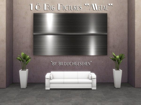 "Sims 4 CC's - The Best: Big Pictures ""Metal"" by Bildlichgesehen"