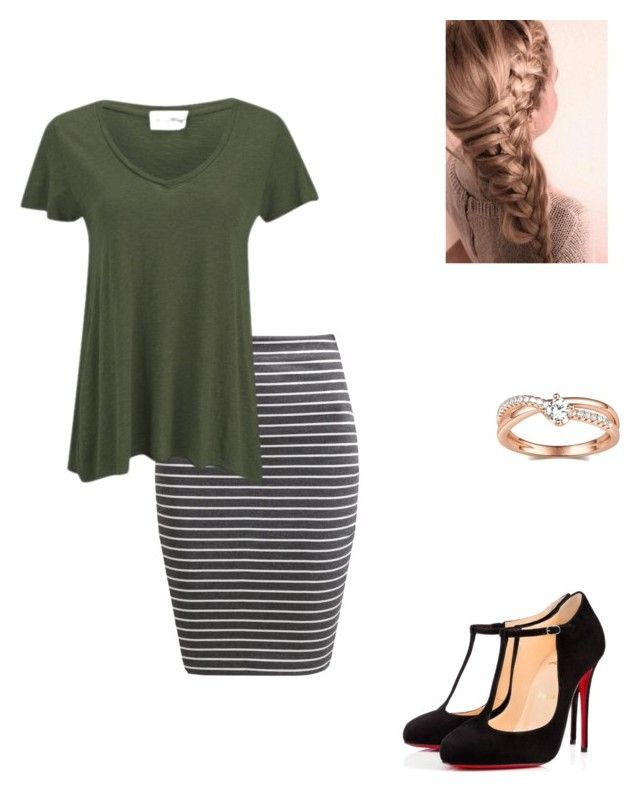 """""""Love this shade of green"""" by modest-flute ❤ liked on Polyvore featuring The Fifth Label, American Vintage and Christian Louboutin"""