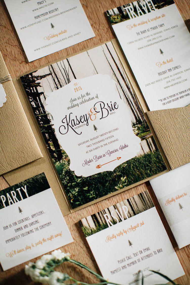 On Rocky Mountain Bride | Invitation ideas, Wedding and Wedding