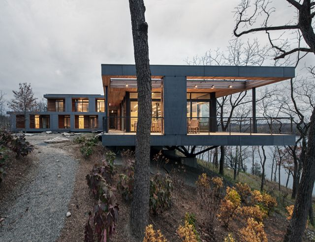 River House By Bwa Architecture House On Stilts Residential Architecture Contemporary house upstate ny