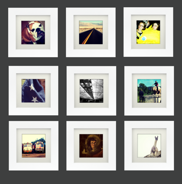 White + Square – Tiny Mighty Frames for Instagram wall | DIY ...
