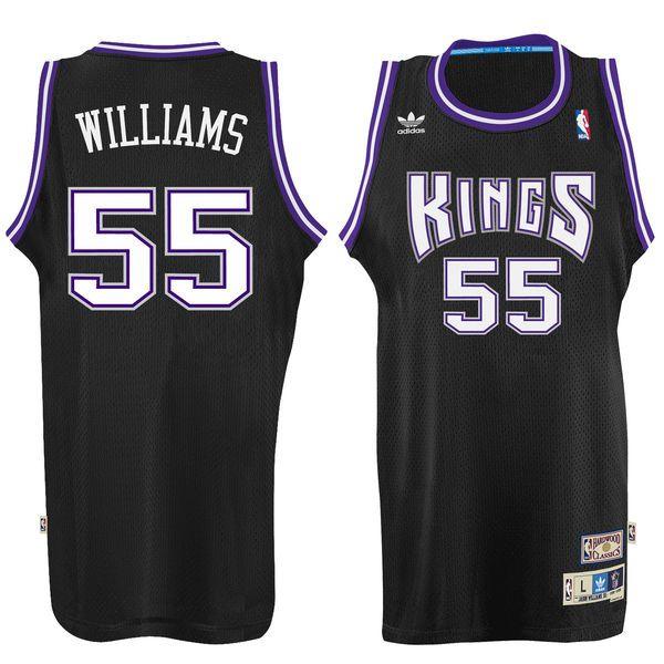 e24f82f42 Men s Sacramento Kings Jason Williams adidas Black Hardwood Classic Swingman  Jersey