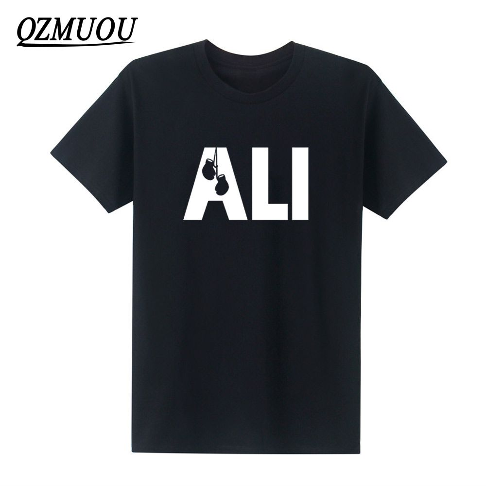 2017 New Fashion Men Summer T Shirts MUHAMMAD ALI Printed Combed Cotton Fitness Casual MMA T Shirt High Quality Plus Size XS-XXL