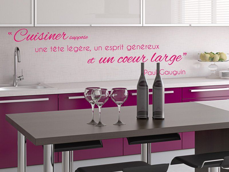 Stickers de cuisine maximes et proverbes pinterest for Stickers muraux cuisine