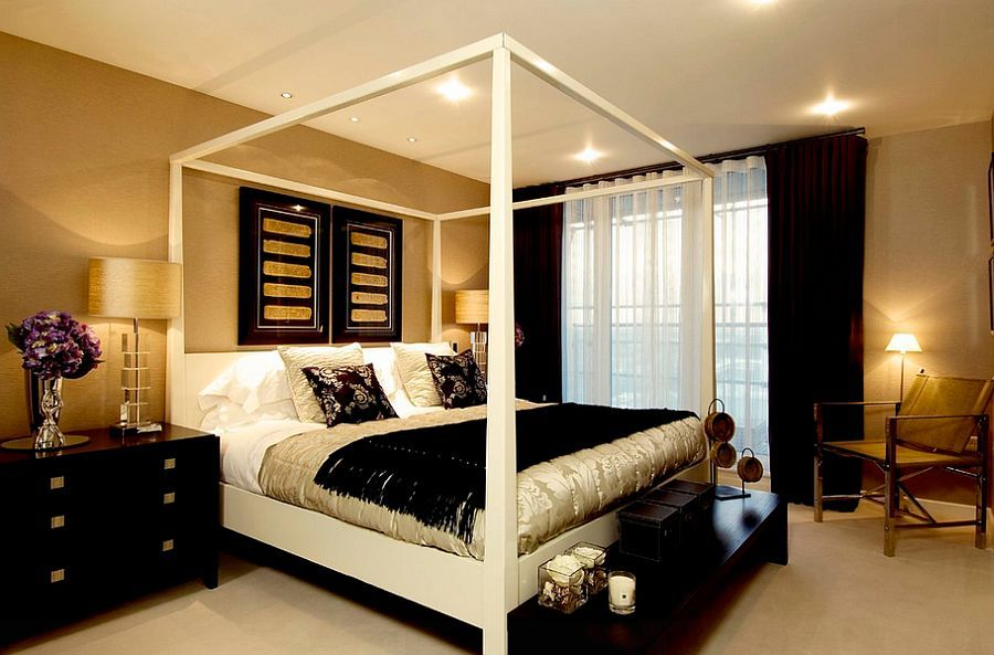 Exceptional Gold Walls Bedroom Part - 6: 15 Refined Decorating Ideas In Glittering Black And Gold