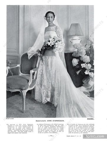 Chanel Couture 1934 Wedding Dress Anne D Ormesson