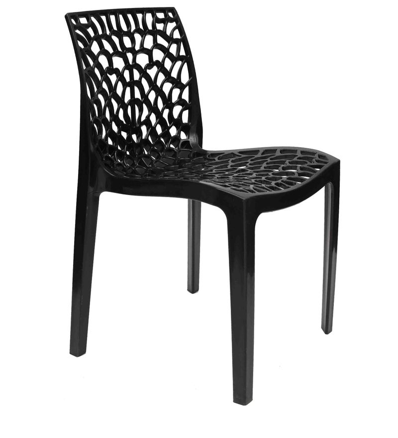 Buy Ruby Stackable Chair in Black Colour by Starshine  Online: Shop from wide range of Chairs Online in India at best prices. ✔Free Shipping✔Easy EMI✔Easy Returns