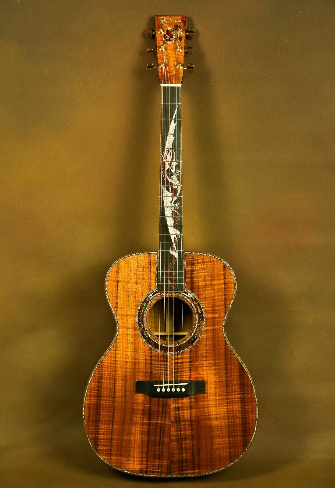 Martin Om 45 Dragon Koa Custom Acoustic Guitar Custom Acoustic Guitars Martin Acoustic Guitar Martin Guitar