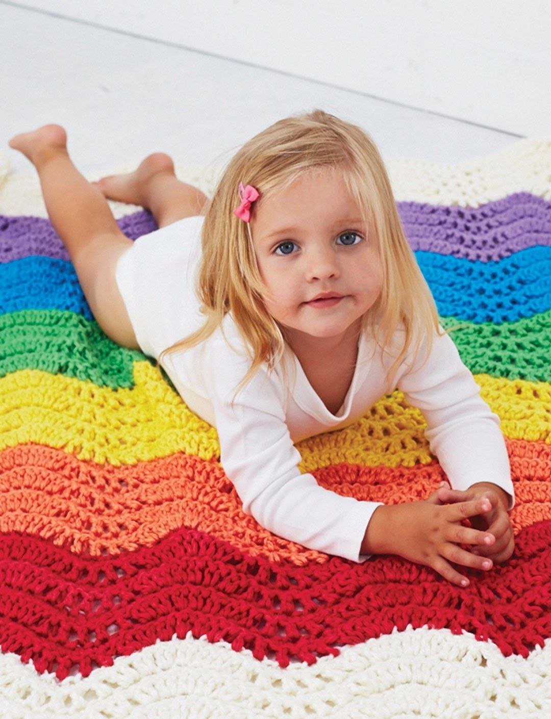 Yarnspirations.com - Bernat End of the Rainbow Blanket - Patterns ...