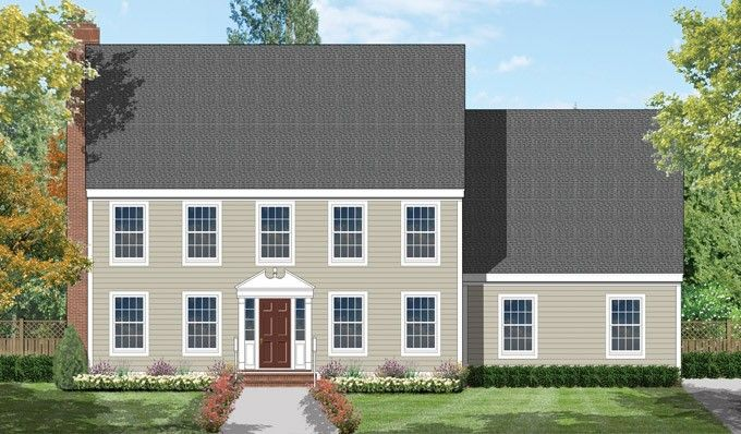 Colonial Style House Plan 4 Beds 2 5 Baths 2736 Sq Ft Plan 1053