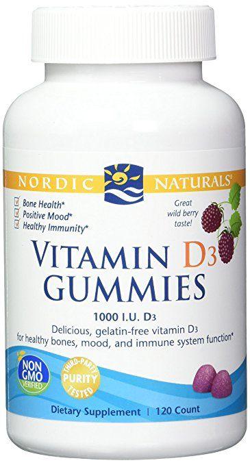 Nordic Naturals Vitamina D3 Gummies Los Huesos Sanos Estado De Animo Y Funcion Del Sistema Inmunologico 120 Healthy Bones Natural Vitamins Nordic Naturals