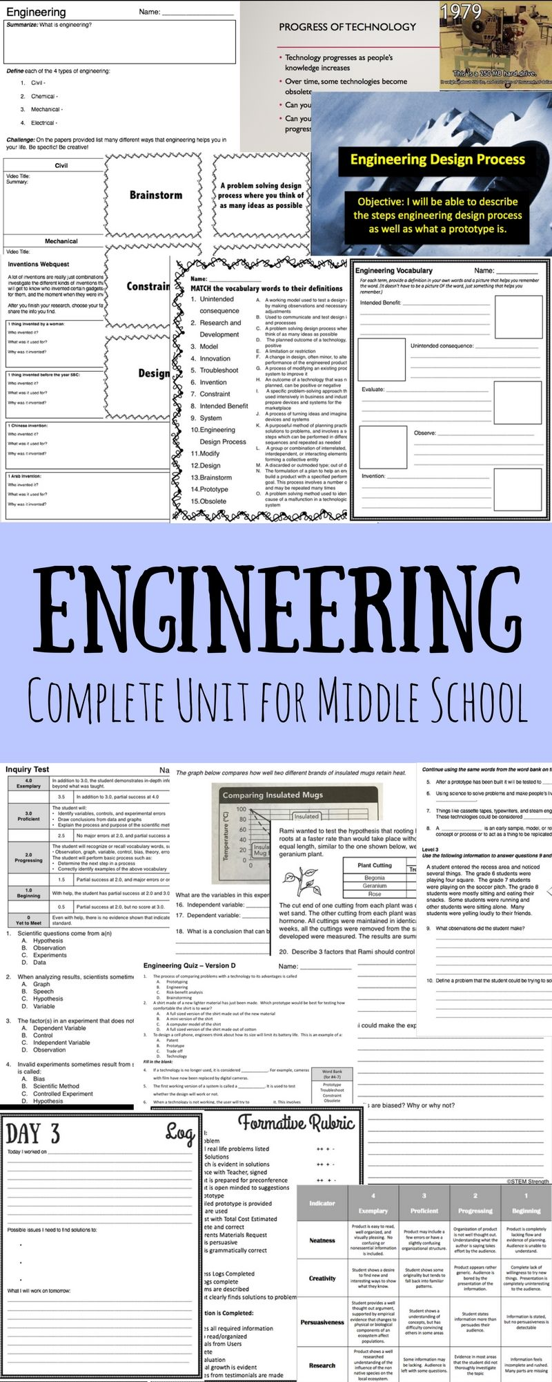 Engineering Unit Bundle - over 20 files | Middle School