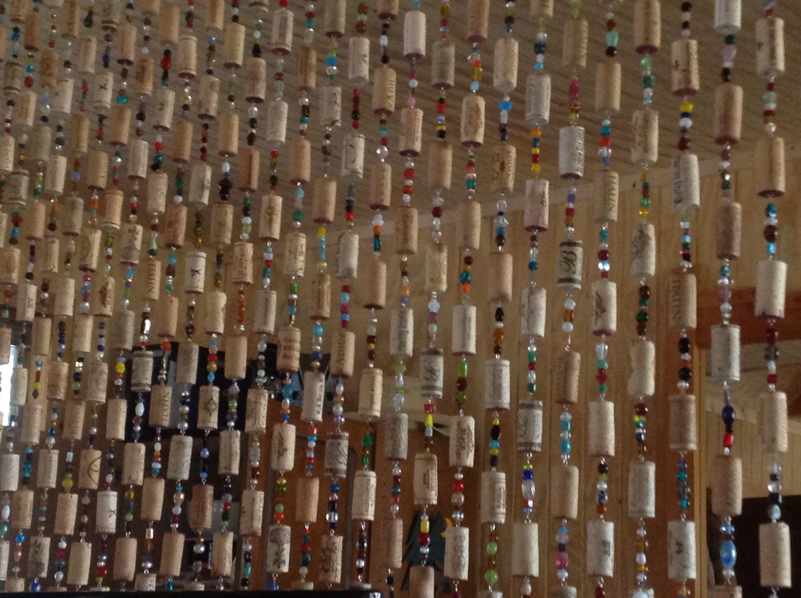Bead And Wine Cork Curtain