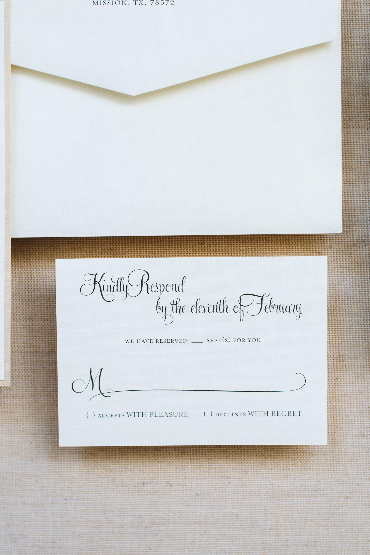 Formal Wedding Invitation www.invitedbylamaworks.com | Envelopments ...