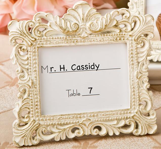 Elegant Vintage Baroque Place Card Holder Frame Wedding Favors - Affordable Elegance Bridal -