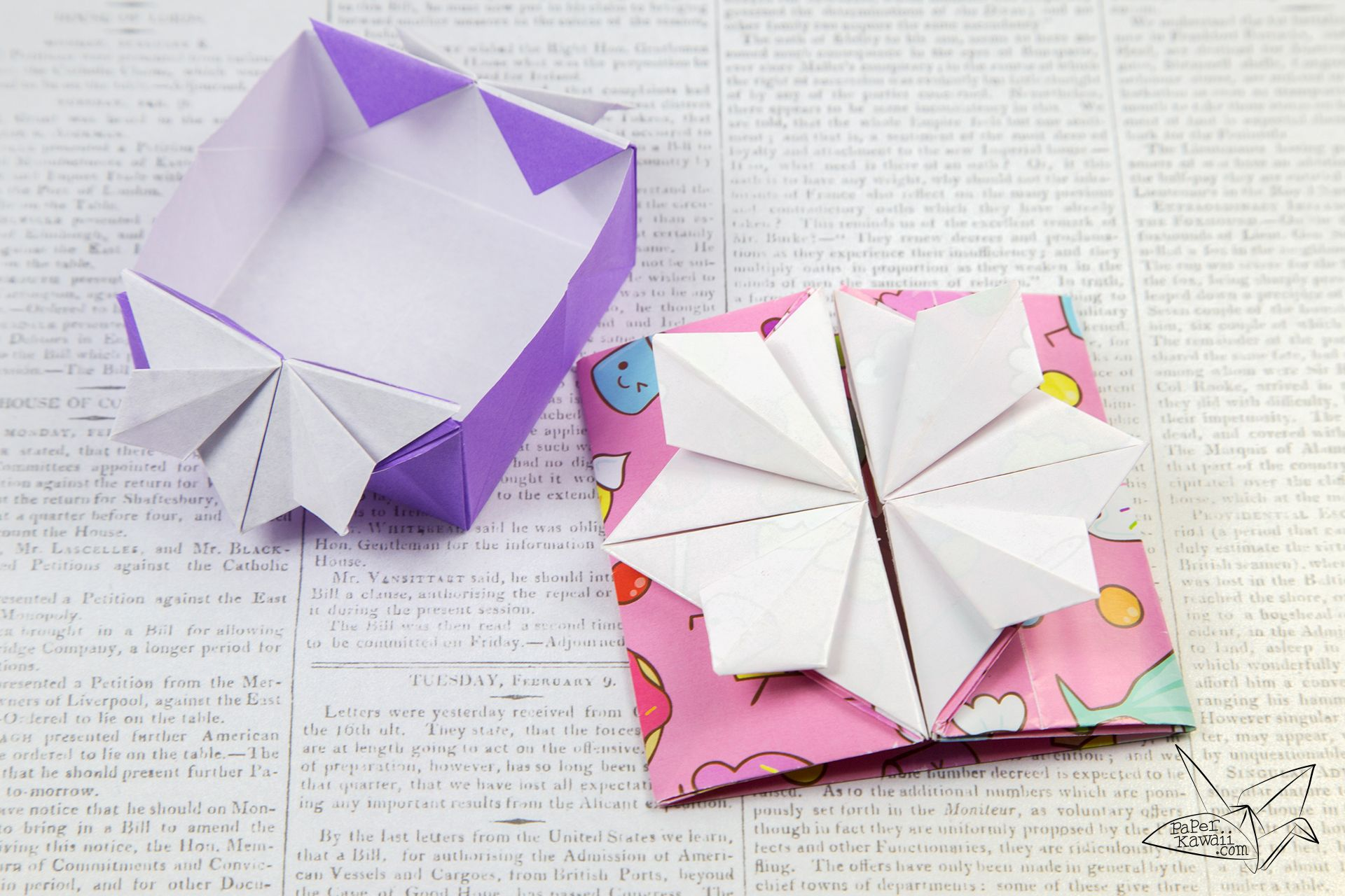 Origami Popup Envelope Box Tutorial Paper Kawaii Origami Origami Box Kawaii Diy