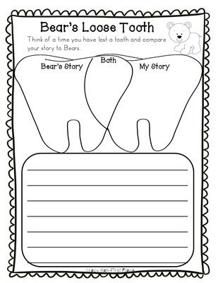 Bears Loose Tooth Story Activities Loose Tooth Dental Health