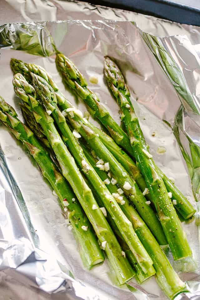 Photo of Cheesy Grilled Asparagus in Foil Packs