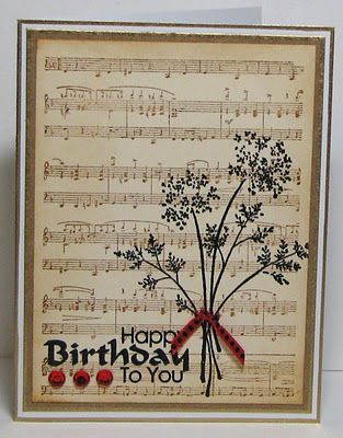 Inspiration For My Mega Mount Cover A Card Stamp Music Cards