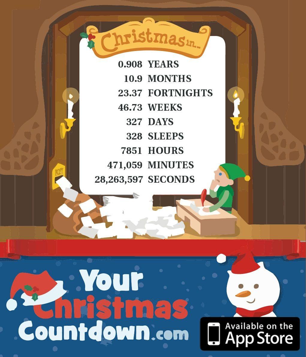 Only 327 Days 328 Sleeps Left Until Christmas Days Until Christmas Christmas Countdown Christmas