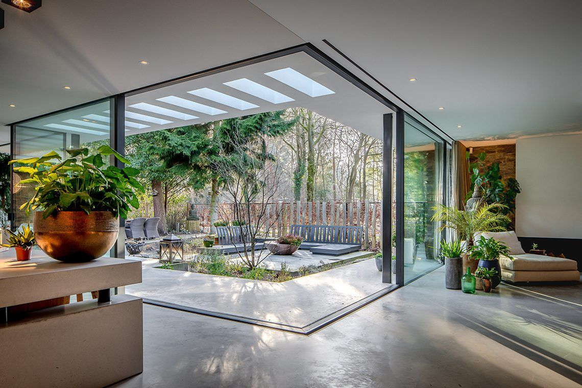Maison Moderne Avec Patio Interieur villa w - francois hannes   arquitetura casas